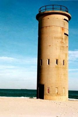 Indian River Life-Saving Station, nearby is one-time Coastal Defense Watch Tower image. Click for full size.