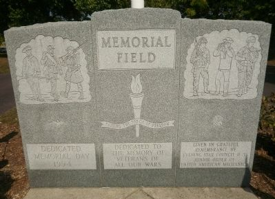 Memorial Field Marker image. Click for full size.