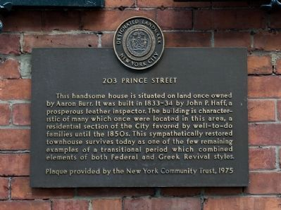 203 Prince Street Marker image. Click for full size.