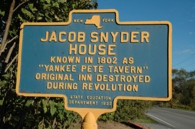 Jacob Snyder House Marker image. Click for full size.