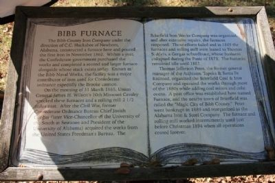 Bibb Furnace Marker (left marker) image. Click for full size.