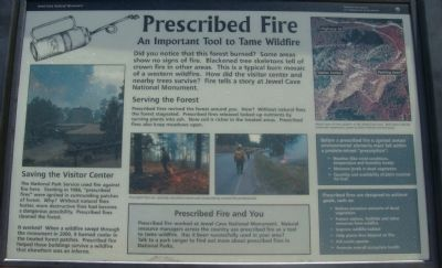 Prescribed Fire Marker image. Click for full size.