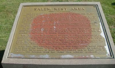 Salem Rest Area Marker Photo, Click for full size