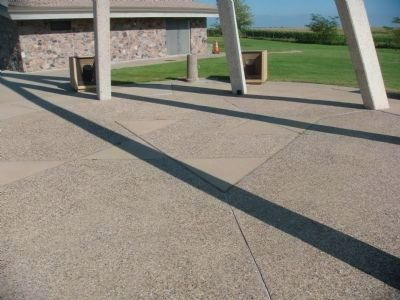 The concrete isosceles triangles mentioned in the marker Photo, Click for full size