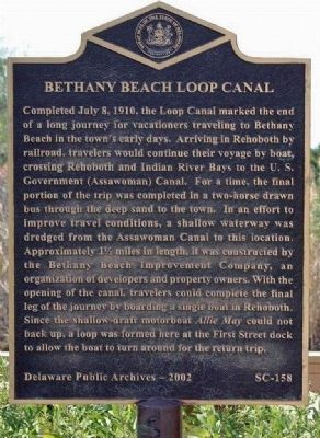 Bethany Beach Loop Canal Marker image. Click for full size.
