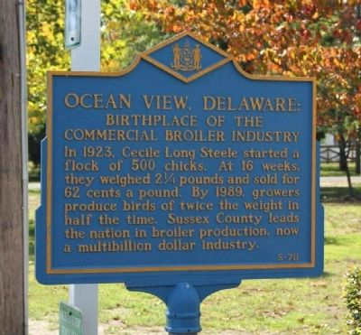 Ocean View Delaware Marker image. Click for full size.
