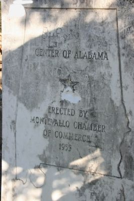 Center of Alabama Marker image. Click for full size.