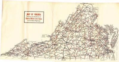 1932 Virginia Historical Marker Letter Routes image. Click for full size.
