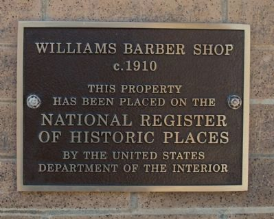 Williams Barber Shop Marker image. Click for full size.