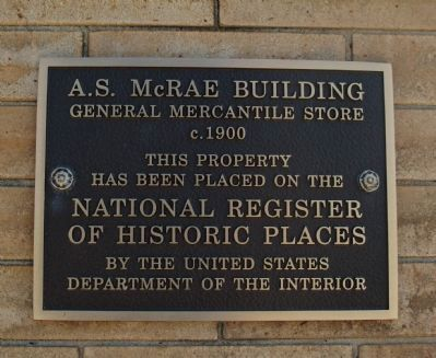 A.S.McRae Building Marker image. Click for full size.