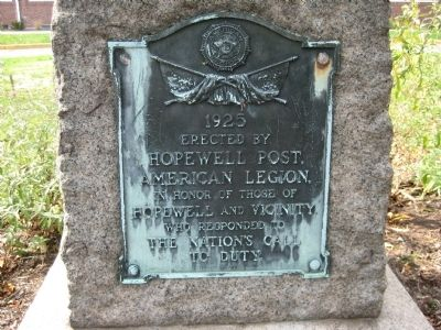 Hopewell Call To Duty Marker image. Click for full size.