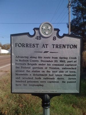 Forrest at Trenton Marker image. Click for full size.