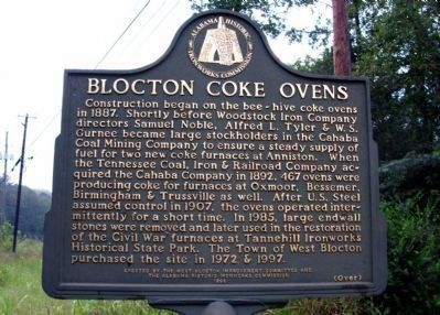 Blocton Coke Ovens Marker image. Click for full size.