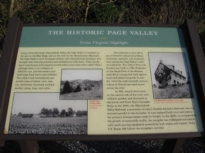 The Historic Page Valley Marker image. Click for full size.