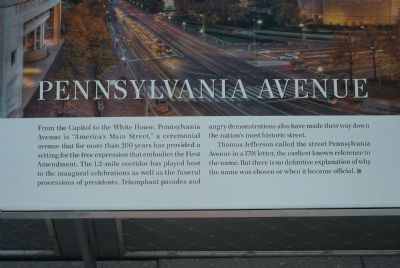 Pennsylvania Avenue Marker Panel 1 image. Click for full size.
