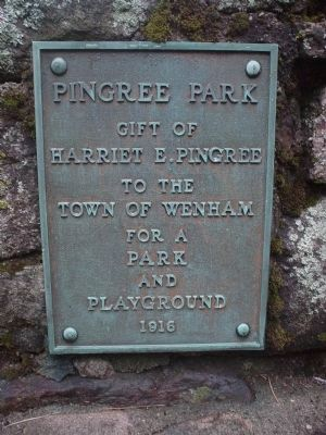 Pingree Park Dedication Plaque image. Click for full size.