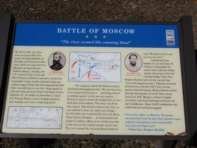 Battle of Moscow Marker image. Click for full size.