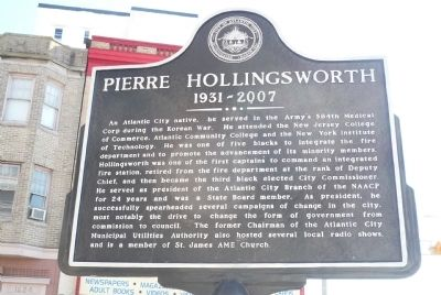 Pierre Hollingsworth Marker image. Click for full size.