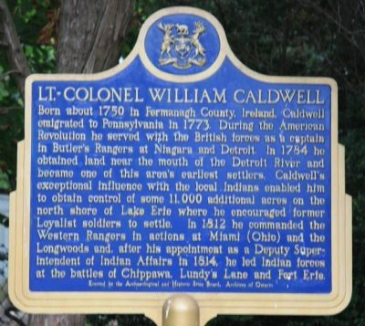 Lt. - Colonel William Caldwell Marker image. Click for full size.