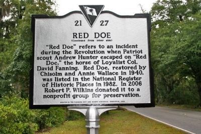 Red Doe Marker (reverse) image. Click for full size.
