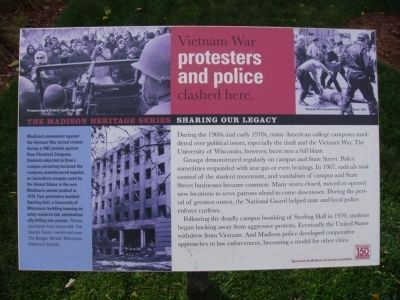 Vietnam War protesters and police clashed here Marker image. Click for full size.