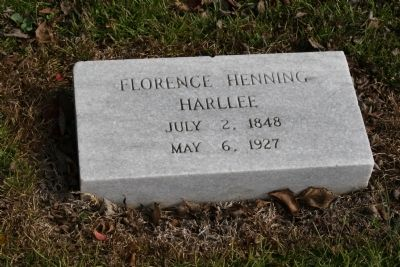 Florence H. Harllee Grave Site image. Click for full size.