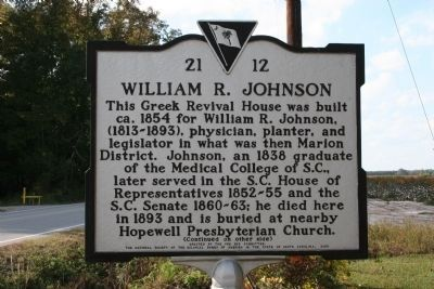 William R. Johnson House Marker image. Click for full size.
