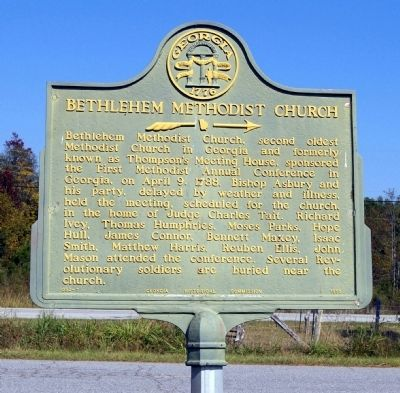 Bethlehem Methodist Church Marker image. Click for full size.