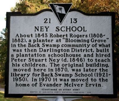 Ney School Marker image. Click for full size.