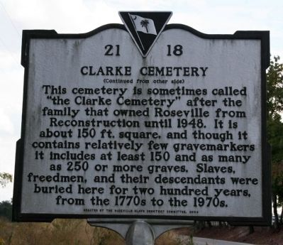 Clarke Cemetery Marker image. Click for full size.