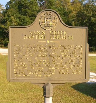 Van�s Creek Baptist Church Marker Photo, Click for full size
