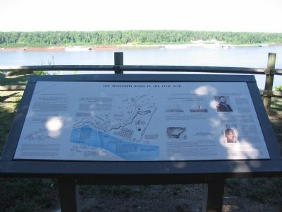 The Mississippi River in the Civil War Marker image. Click for full size.