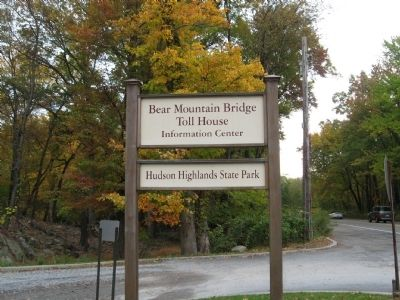 Bear Mountain Bridge Toll House Sign image. Click for full size.
