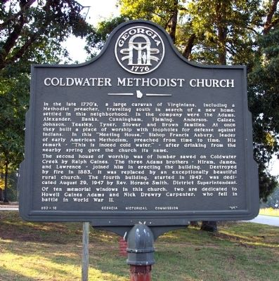 She was a homemaker and was a member of Coldwater United Methodist Church.