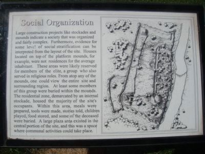 Social Organization Marker Photo, Click for full size