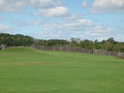 Wide View of a Portion of the Stockade Photo, Click for full size