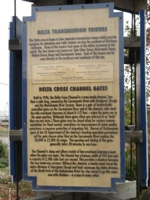 Delta Transmission Towers/Delta Cross Channel Gates Marker image. Click for full size.