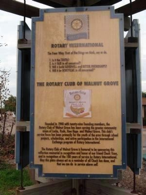Rotary Club of Walnut Grove Sponsorship Marker image. Click for full size.