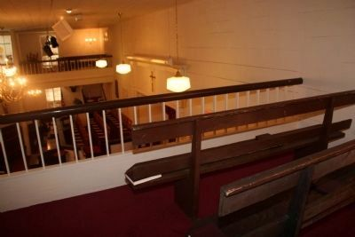 Padgett's Creek Baptist Church Pews From Balcony image. Click for full size.