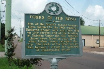 Forks of the Road Marker Photo, Click for full size