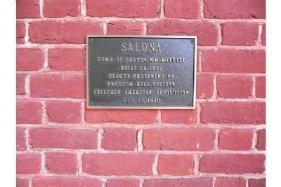 Marker on the origin of the Salona house image. Click for full size.