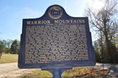 Warrior Mountains Marker image. Click for full size.