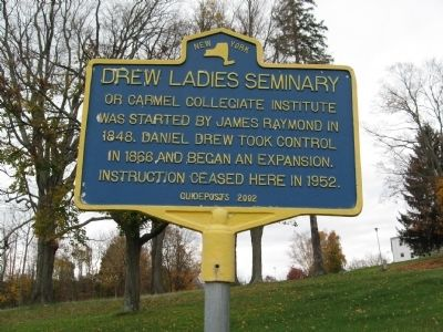 Drew Ladies Seminary Marker image. Click for full size.
