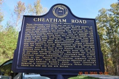 Cheatham Road Marker image. Click for full size.