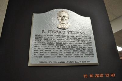 Lt. Col. R. Edward Yeilding Plaque image. Click for full size.