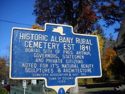 Historic Albany Rural Cemetery Marker image. Click for full size.