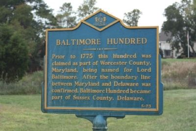 Baltimore Hundred Marker Photo, Click for full size