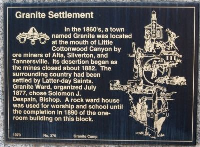 Granite Settlement Marker image. Click for full size.