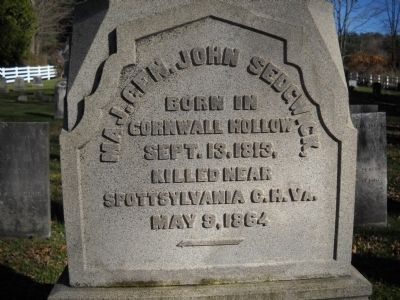 Sedgwick Grave Inscription Photo, Click for full size
