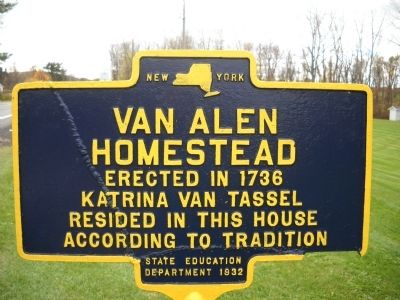 Van Alen Homestead Marker image. Click for full size.
